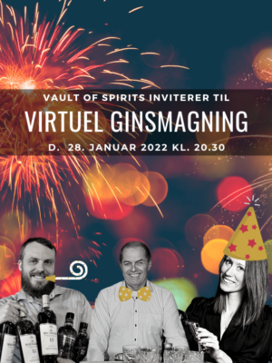 Virtuel Ginsmagning - nytår - gin - eksklusiv spiritus - foto