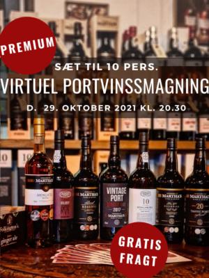 Premium sæt - virtuel portvinssmagning - foto